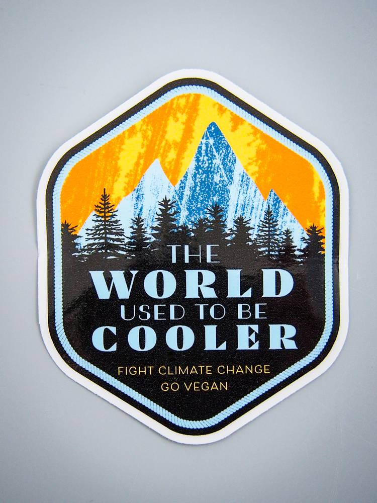 The World Used To Be Cooler Die Cut Sticker