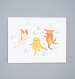 Hi Excited Dogs Card