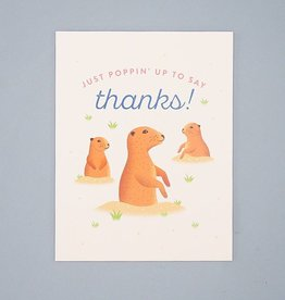 Poppin' Up Prairie Dogs Card