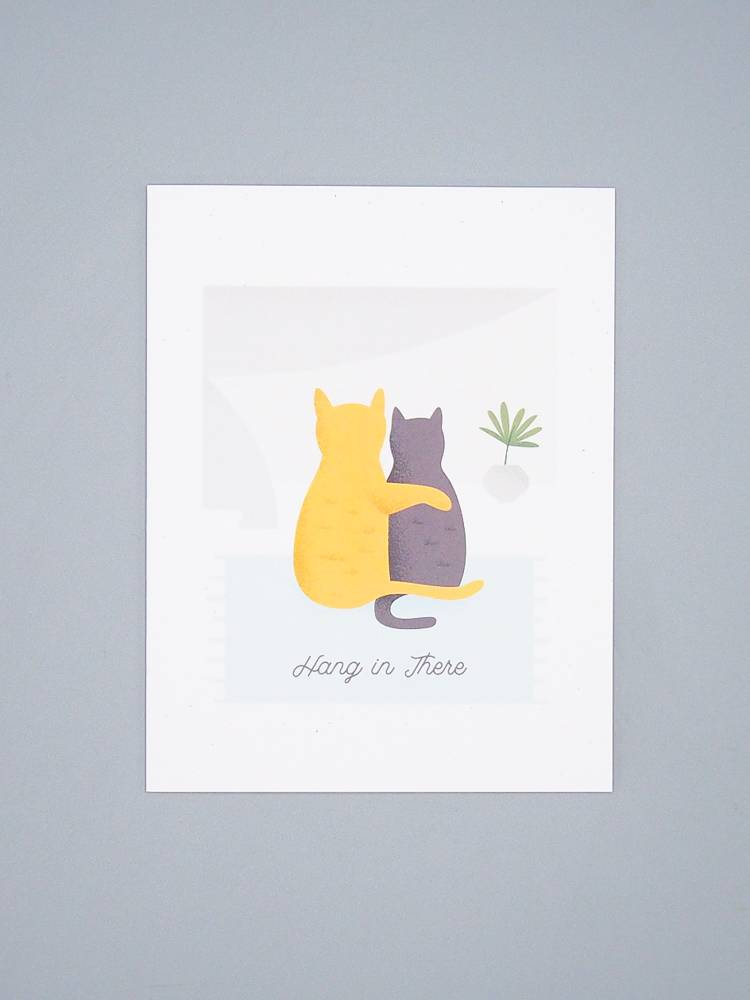 Hang In There Cat Card