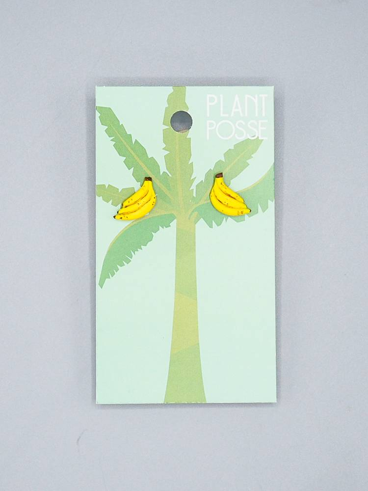 Plant Posse Bananas Post Earrings