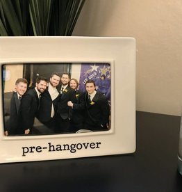 Buffalovely Pre-Hangover Porcelain 4x6 Picture Frame