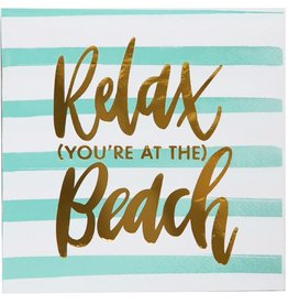 Slant Relax You're at the Beach Napkin 20 ct.