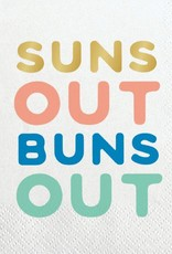 Slant Suns Out Buns Out Napkin 20 ct.
