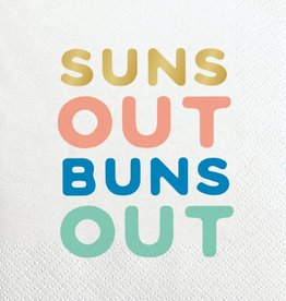 Slant Suns Out Buns Out Napkins 20 CT