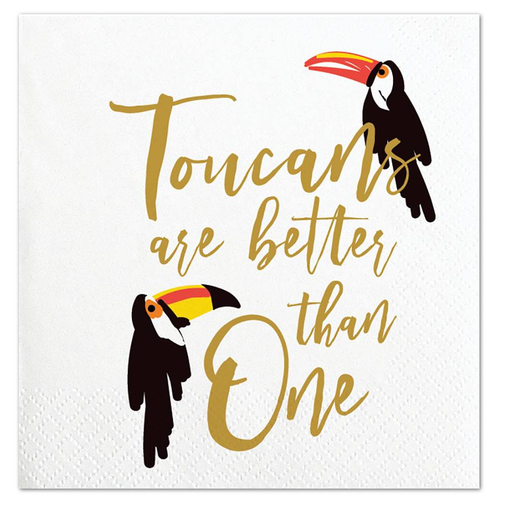 Slant Toucans Are Better Than One Napkins 20 CT