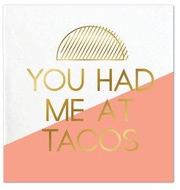 Slant You Had Me At Taco Napkin 20 Ct