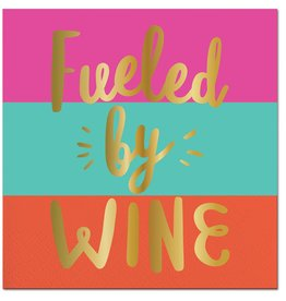 Slant Fueled By Wine Napkin 20 Ct