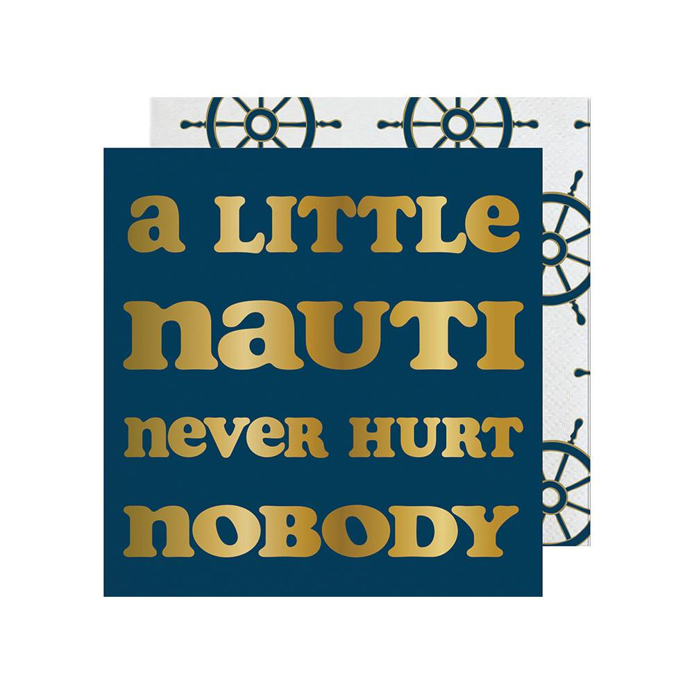 Slant A Little Nauti Never Hurt Nobody Napkin 20 Ct