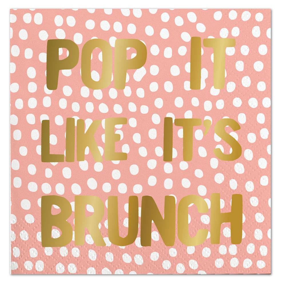 Slant Pop It Like It's Brunch Napkin 20 Ct