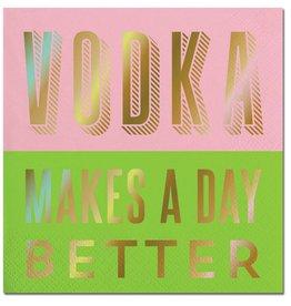 Slant Vodka Makes A Day Better Napkin 20 Ct