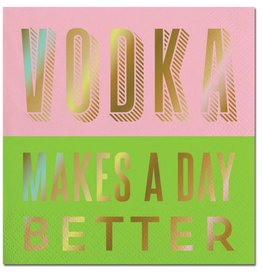 Slant Vodka Makes A Day Better Napkins 20 CT