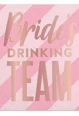Slant Brides Drinking Team Napkins 20 CT