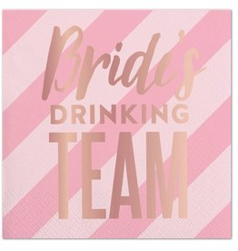 Slant Brides Drinking Team Napkins 20 CT