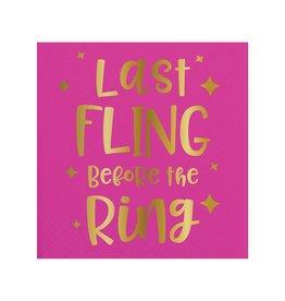 Slant Last Fling Before The Ring Napkin 20 Ct