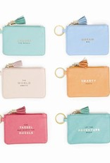 Two's Company ID Pouch w/ Tassel & Key Ring