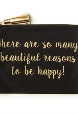 Two's Company Beautiful Reasons To Be Happy Pouch
