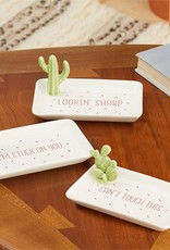 Two's Company Cactus Trinket Tray