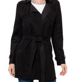 Love Token Violetta Faux Suede Jacket Black