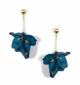 Zenzii Painted Petals Earring Teal
