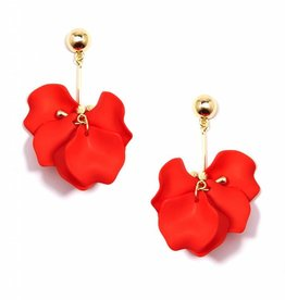 Zenzii Painted Petals Earring Orange