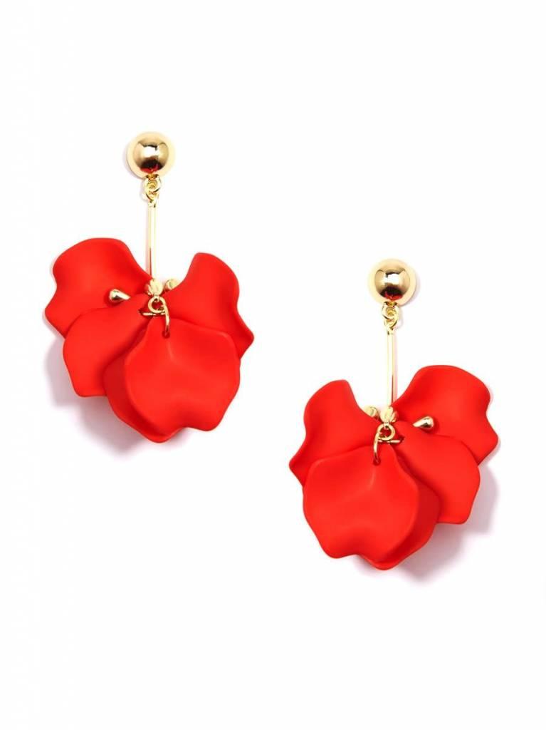 Zenzii Painted Petals Earring Orange