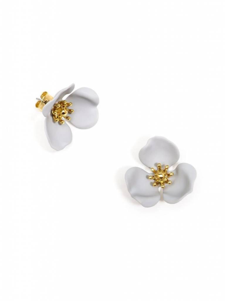 Zenzii Blooming Lotus Earring Gray