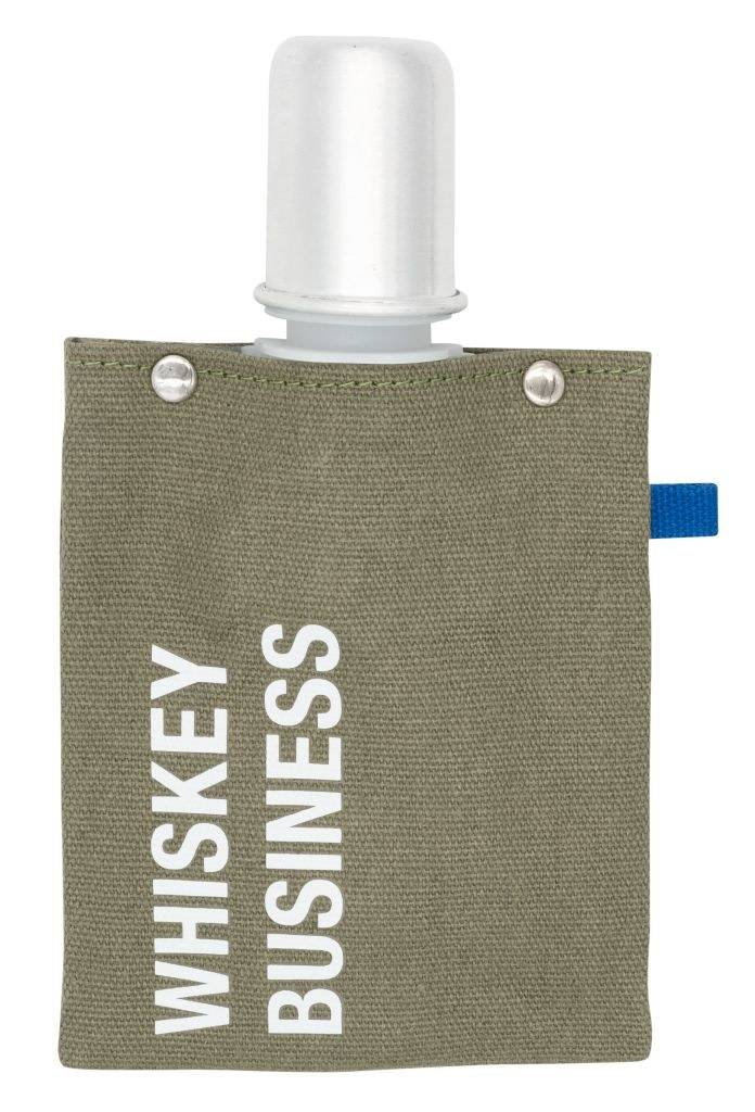 About Face Whiskey Business Canvas Flask