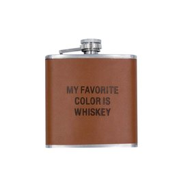 About Face My Favorite Color is Whiskey Flask