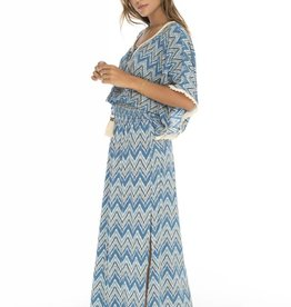 Delray Butterfly Dress Indigo