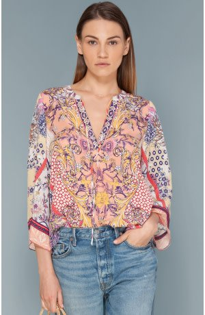 Hale Bob Adelie Stretch Silk Top