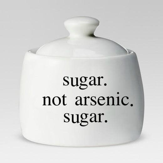 Buffalovely Suagr Not Arsenic Ceramic Sugar Bowl