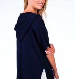 Caroline Grace Cotton Cashmere Ultimate Yoga Cover Up Hoodie Midnight