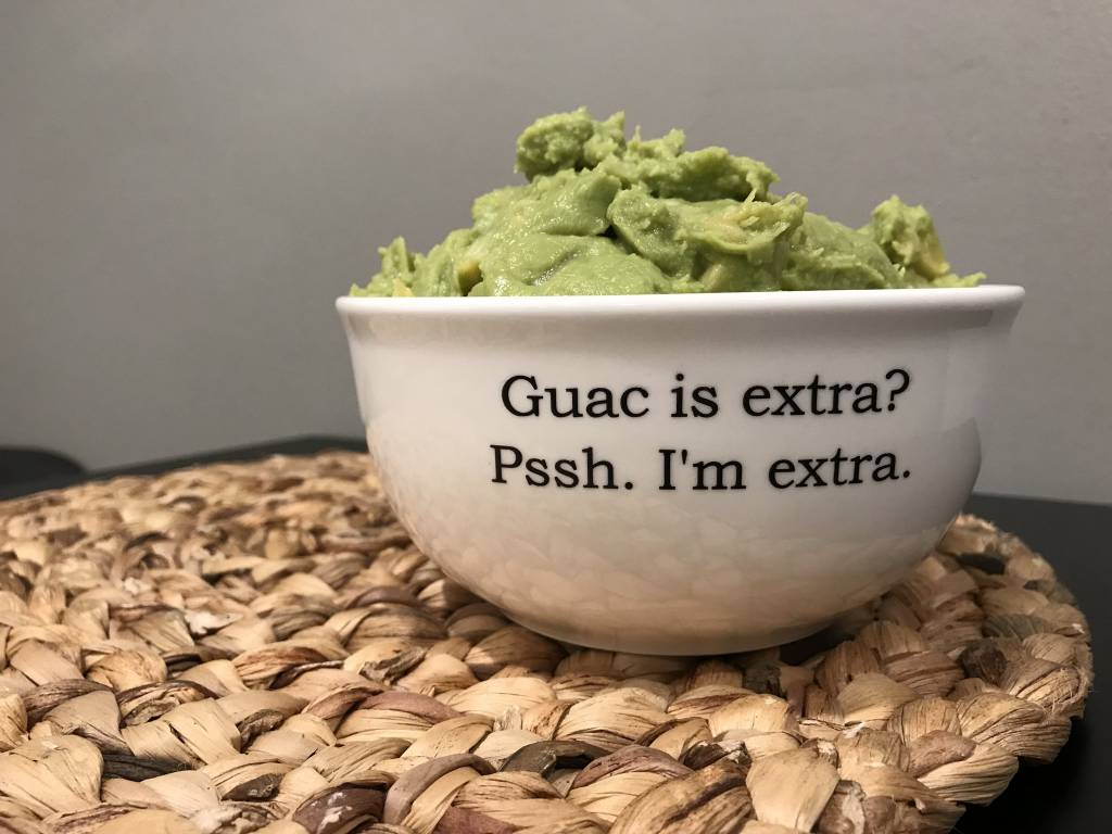 Buffalovely Guac is Extra Large Dip Bowl