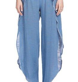Elan Wrap Pant Blue