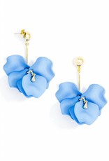 Zenzii Painted Petals Earring Light Blue