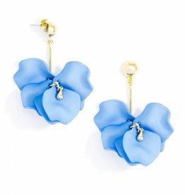 Zenzii Painted Petals Earring Light Blue