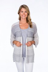 Claudia Nichole Watercolor Relaxed Cardigan Grey