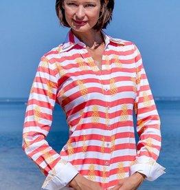 Dizzy Lizzie Vero Beach Shirt Orange Pineapples
