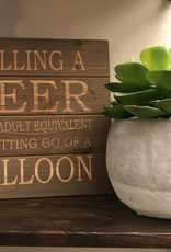 Buffalovely Spilling a Beer Wooden Pallet Sign