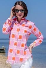 Dizzy Lizzie Dizzy Lizzie Sun Valley Fringe Shirt Pink/Orange