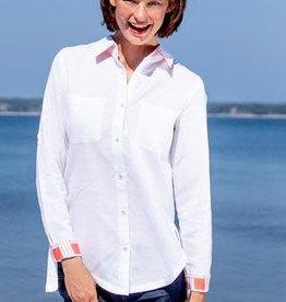 Dizzy Lizzie White Shirt Cuff Detail