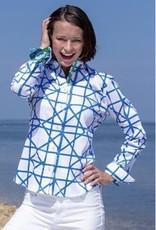 Dizzy Lizzie Dizzy Lizzie Rome Shirt Geometric Navy/White