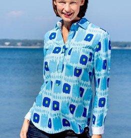 Dizzy Lizzie Dizzy Lizzie Cannes Popover Shirt Blues