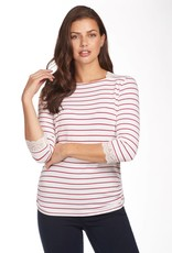 French Dressing Nautical Stripe Top White/Red