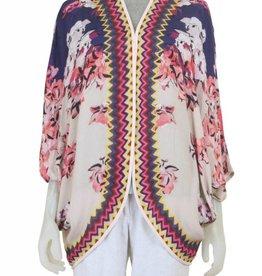 Blank Johanna Short Kimono