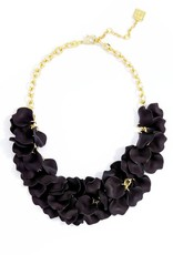 Jewelry Painted Petals Necklace Black