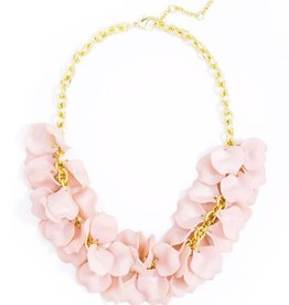 Jewelry Painted Petals Necklace Rose