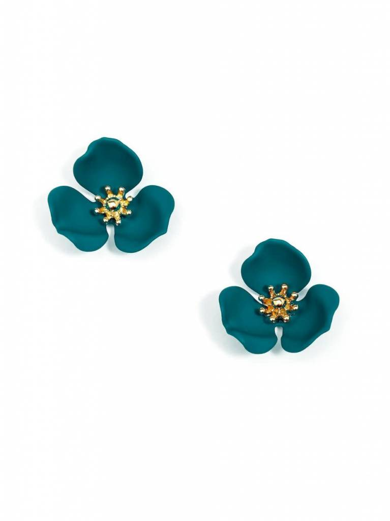 Jewelry Blooming Lotus Earring Teal