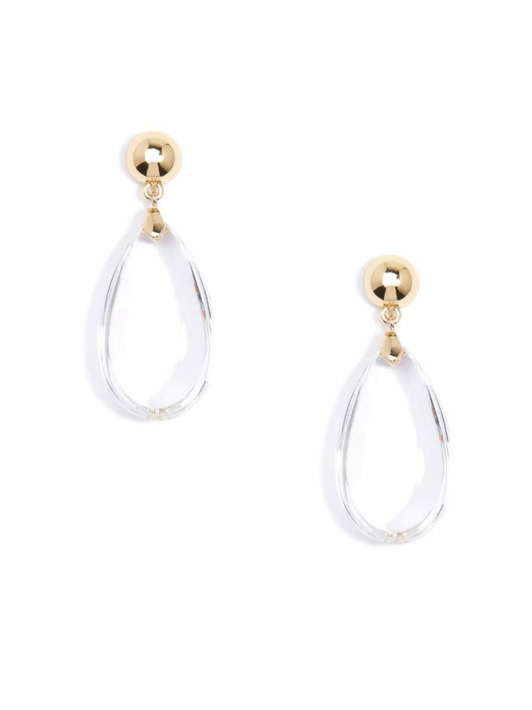 Jewelry Lucite Teardrop Earring Clear
